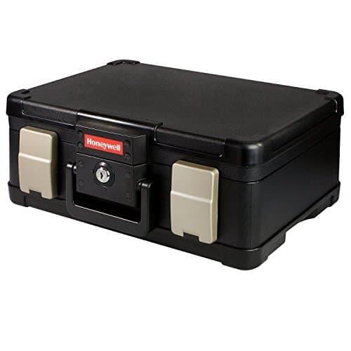 Feuerfeste Wasserdichte Dokumentenbox Geldkassette 40,7 x 32,0 x 16,6 cm, schwarz , DIN A4