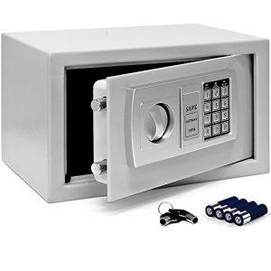 Tresor Safe mit Elektronik-Zahlenschloss 32 x 24 x 22cm LED-Anzeige Stahlbolzen