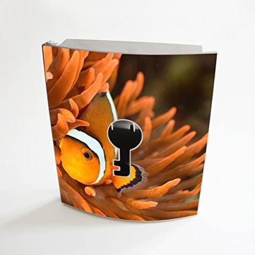 banjado - Edelstahl Schlüsselkasten 20cm x 23cm x 6cm mit Motiv Clownfisch