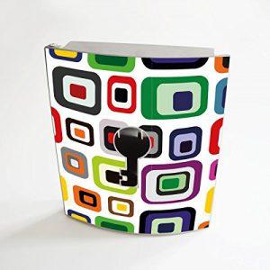 banjado - Design Schlüsselbox aus Edelstahl 20cmx23cmx6cm mit Motiv Retro 2